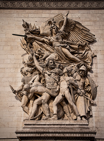 Image on the side of the Arc de Triomphe.